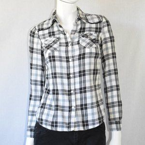 Mossimo Supply Co. Plaid Button Down Shirt Size XS